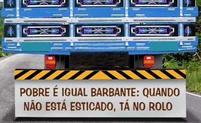 Microliteratura No Parachoque Do Caminhão Boteco Escola